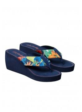 Дамски плажни чехли с платформа 38107