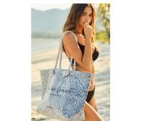 Плажна чанта 38106 черно-бяла