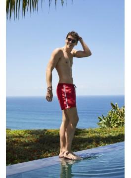 Мъжки плажни шорти 40104 червени
