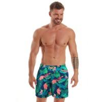 Мъжки плажни шорти B601 leaves