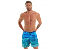 Мъжки плувни шорти B601 waves