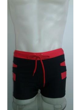 Мъжки бански тип боксер 00116 черно с червено