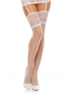 Чорапи за жартиери Romance white