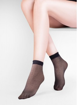 Къси фигурални чорапки Flo