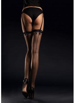 Мрежести чорапи за жартиери Satine