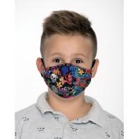 Двуслойна маска за момче с метален стек - 8-12 г., с черепи