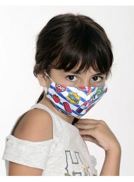 Двуслойна маска за момиче с метален стек - 8-12 г.