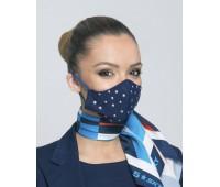 Дамска маска - три слоя с тюл и декоративни апликации
