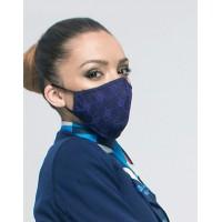 Двуслойна дантелена маска за лице