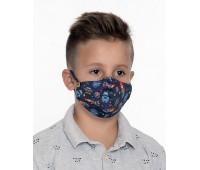 Двуслойна маска за момче с метален стек - 8-12 г.