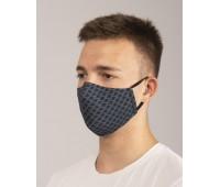 Предпазна двуслойна маска за лице с метален стек