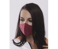 Трислойна предпазна маска за лице с декоративен тюл