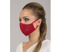 Трислойна дамска маска с декоративен тюл