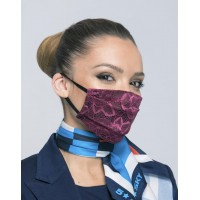 Двуслойна дамска маска с еластична дантела