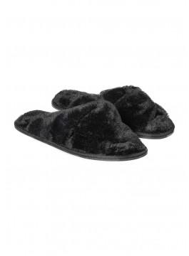 Топли дамски пантофи 38244 черни