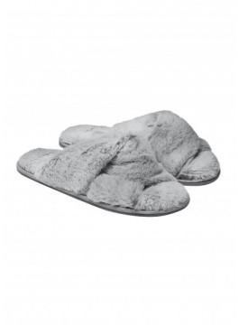 Топли дамски пантофи 38244 сиви