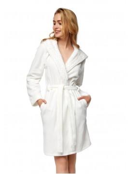Топъл дамски халат с качулка 37390