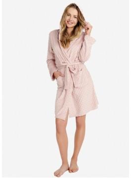 Топъл дамски халат с качулка 38192-39X