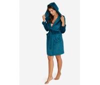 Топъл дамски халат с качулка 38192-67X