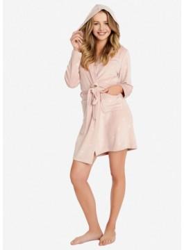 Топъл дамски халат с качулка 38205-39X
