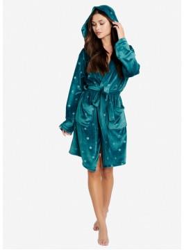 Топъл дамски халат с качулка 38205-67X