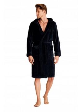 Топъл мъжки халат с качулка 38319