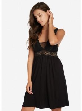 Луксозна нощница с оформени чашки 38222 black
