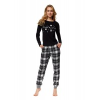 Луксозна дамска пижама 37319 черна