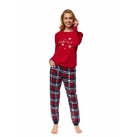 Луксозна дамска пижама 37319 червена