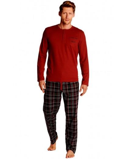 Луксозна мъжка пижама с дълъг ръкав 38360