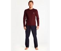 Луксозна мъжка пижама с дълъг ръкав 38362
