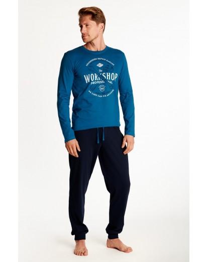 Мъжка пижама с дълъг ръкав 38379