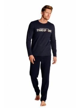 Мъжка пижама с дълъг ръкав 38382