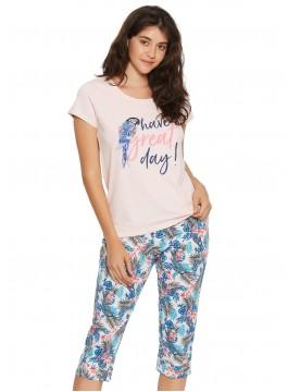 Дамска пижама с къс ръкав 38052
