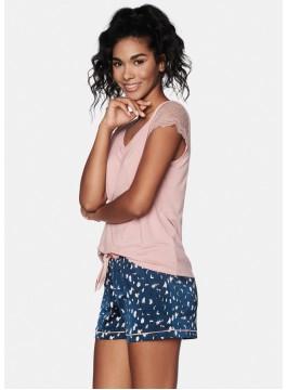 Дамска пижама с къс ръкав 38629