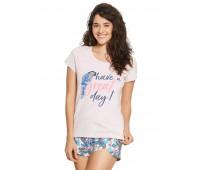 Дамска пижама с къси панталонки 38051