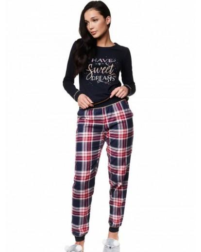 Луксозна дамска пижама с дълъг ръкав 39220