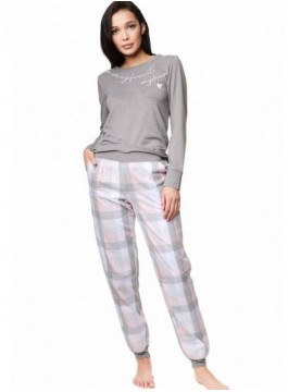 Луксозна дамска пижама с дълъг ръкав 39213
