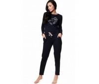 Памучна дамска пижама с дълъг ръкав 39214
