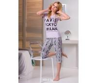 Дамска пижама с къс ръкав City