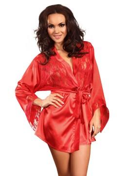 Елегантен дамски халат и прашки Prilance red